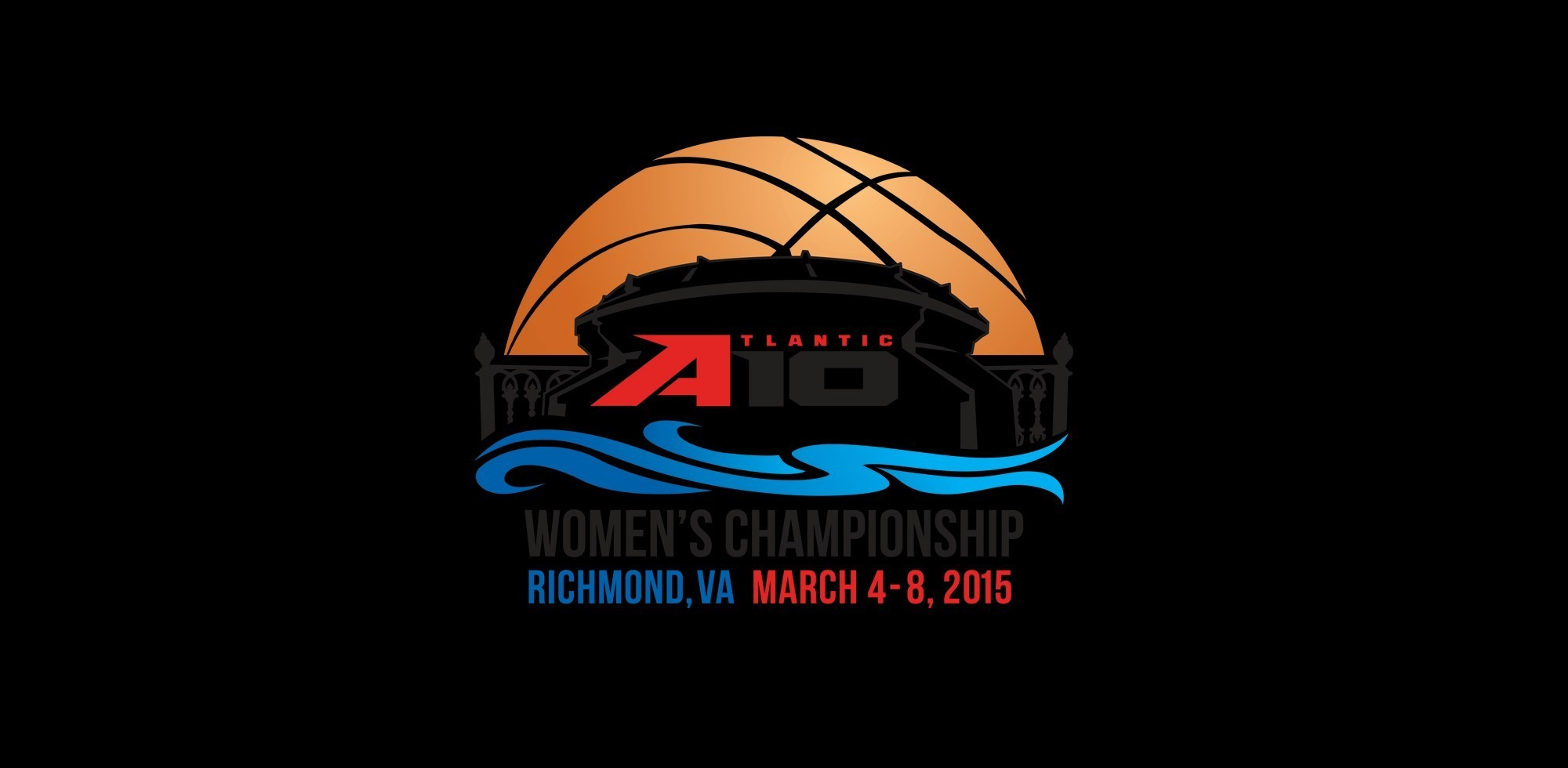 A-10 WBB Tournament Logo